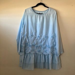 NWT Simply Couture Ruffled Layered Tunic Top